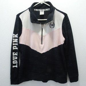 Victoria's Secret Pink 1/4 Zip Pullover Sweatshirt